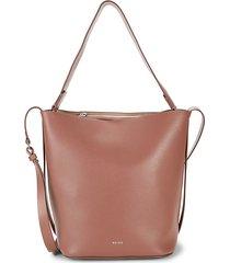 hudson leather bucket bag