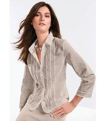 blouse met 3/4-mouwen van peter hahn beige