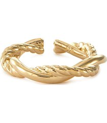 lax' 24k gold plated twisted open band ring