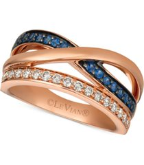 le vian emerald (1/5 ct. t.w.) & diamond (1/4 ct. t.w.) ring in 14k rose gold (also available in sapphire)