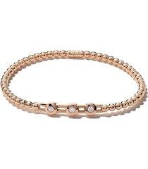 as29 18kt rose gold alf 3-round extendable diamond bracelet