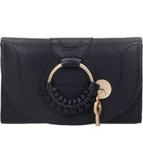 see by chloé wallet in black leather