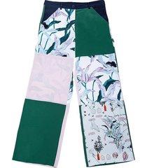 broeken wijd zijde patchwork