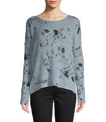 splatter skull-print cashmere sweater