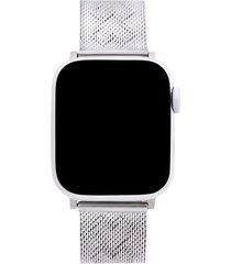 rebecca minkoff heart apple watch(r) bracelet in silver at nordstrom