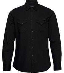 shirt overhemd casual zwart replay