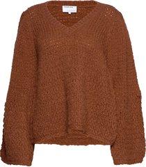 caress v-neck sweater stickad tröja orange designers, remix