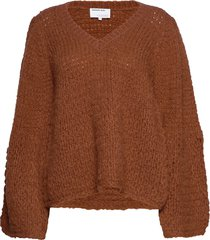 caress v-neck sweater stickad tröja orange designers, remix