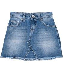 chiara ferragni blue cotton blend flirting denim skirt from