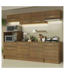 cozinha completa madesa onix 240001 com armário e balcão rustic rustic