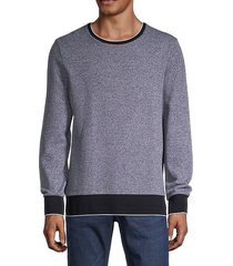 skubic bi-color crewneck sweater