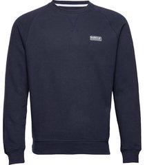 b.intl esse crew sweat sweat-shirt tröja blå barbour