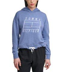tommy hilfiger sport graphic drawstring-waist sweatshirt