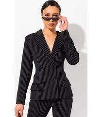 akira mind your business striped blazer