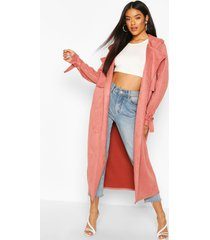 suedette trench coat, rose