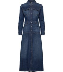 de-joanny maxi dress galajurk blauw diesel women
