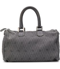 christian dior pre-owned honeycomb monogram tote - grey