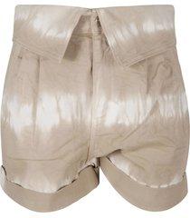 stella mccartney safari tie dye shorts