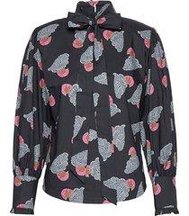 haifa blouse lange mouwen zwart custommade