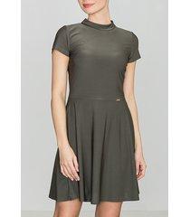 sukienka mini z krótkim rękawem