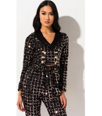 akira party till the dawn blazer crop top