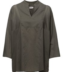 light pleat blouse blouse lange mouwen grijs filippa k