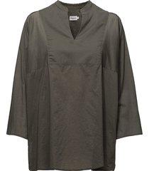 light pleat blouse blouse lange mouwen grijs filippa k