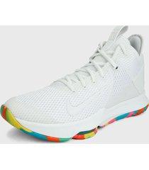 tenis basketball blanco-multicolor nike lebron witness 4