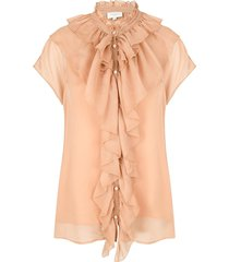 ruches blouse anya  nude