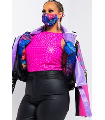 akira plus discotech sleeveless bodysuit