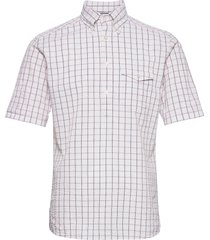 casual fit casual poplin shirt kortärmad skjorta multi/mönstrad eton