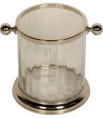 balde de gelo de vidro e aço inox
