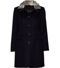 jacket wool wollen jas lange jas blauw betty barclay