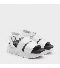 sandalia   blanca paio alice