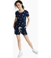 style & co petite star track shorts, created for macy's