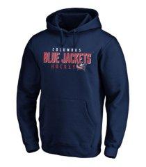 majestic columbus blue jackets men's empty netter hoodie