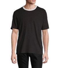 billy reid men's cotton & linen ringer t-shirt - black - size s