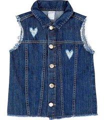 colete jeans infantil hering desfiado feminino
