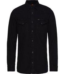 lee western shirt overhemd casual zwart lee jeans