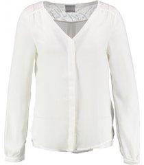 vero moda blouse met kant snow white