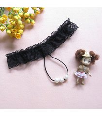 sexy lady nylon lace pearl thongs g-string panties knickers lingerie underwear