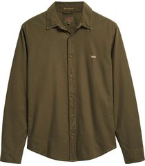 levi's ls battery shirt slim olive groen