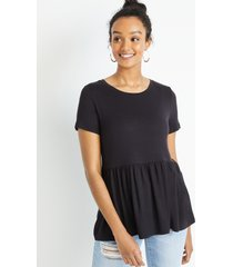 maurices womens 24/7 solid babydoll tee