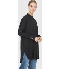 blusón vero moda negro - calce oversize