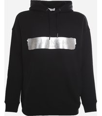 givenchy cotton sweatshirt with embossed logo and metallic effect detail