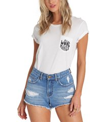 billabong juniors' drift away cotton ripped denim shorts