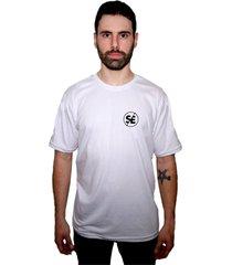 camiseta manga curta skate eterno bask branca - kanui