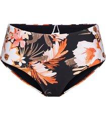bora bora flora wide side retro bikinitrosa svart seafolly