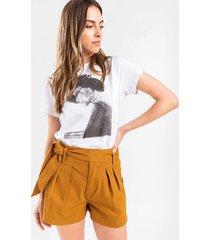 lasette front tie shorts - tortoise
