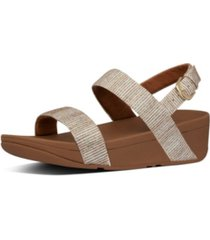 fitflop women's lottie glitter back-strap wedge sandal women's shoes